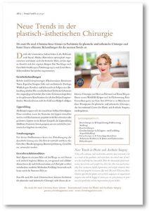 Bericht Feine Adressen München ... Christina Günter Plastische Chirurgin München