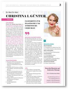 Fachärztin für plastische Chirurgie in München, Dr. Med. Christina Günter