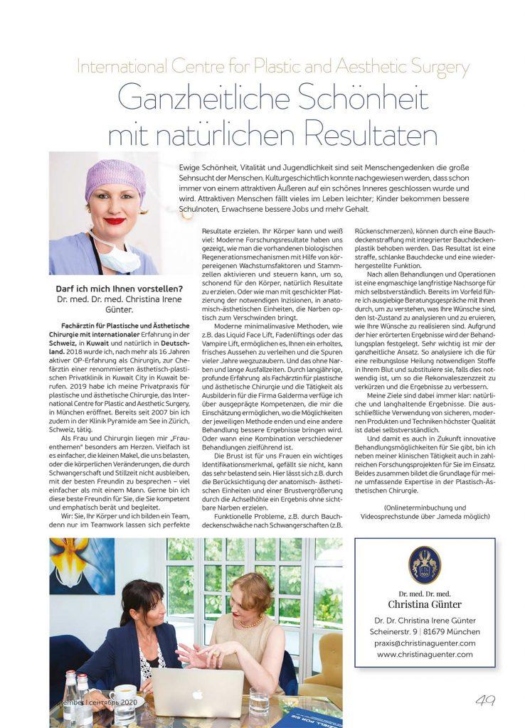 Presse Dr. Christina Günter Plastische Chirurgie München ... Bei uns in Bayern Seite 48